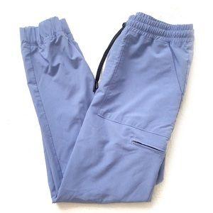 JAANUU Jogger Scrub Pants Drawstring Blue …